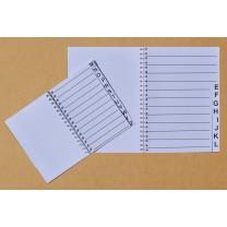 Grootletter adressenboekje A5