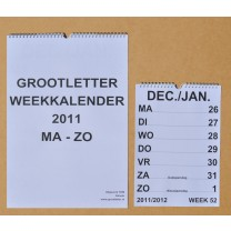 Grootletter weekkalender A4
