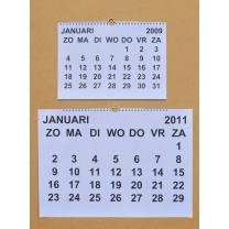 Grootletter maandkalender A3