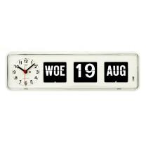 Kalenderklok BQ-38 wit