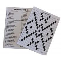 Grootletter kruiswoordpuzzel